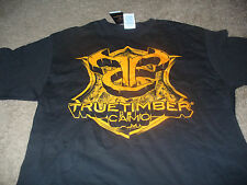 Deer Hunting Mens True Timber Camo Black & Orange T-Shirt Size Medium M