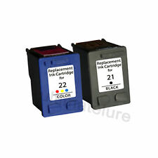 HP21+HP22 Reman Ink Cart 600% More Ink Deskjet 3910 3930v D1311 D1320 D1455