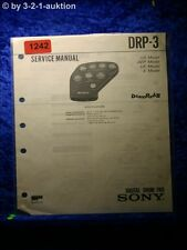 Sony Service Manual DRP 3 Digital Drum Pad (#1242)