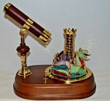 VINTAGE 80's SAN FRANCISCO MUSIC BOX KALEIDOSCOPE DRAGON CAROUSEL STAINED GLASS