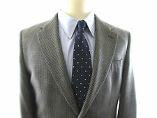 Ralph Lauren Chaps 100% Silk 2 Button Sport Coat Men's 40R Gray Plaid