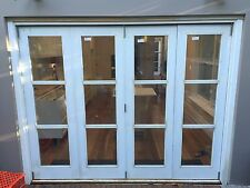 DOUBLE GLAZED TIMBER BIFOLD DOORS - SOLID CEDAR
