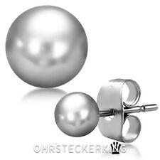 Ohrstecker Kugel 4 mm schlicht glänzend Edelstahl ☆Neu☆