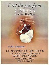 PUBLICITE CARON LE MUGUET DU BONHEUR LA FETE DES ROSES VOEU DE NOEL DE 1952 AD