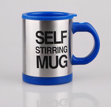 Automatic coffee cup electric coffee cup milk cup stainless steel cup car blue