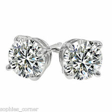 .45 ct. White Sapphire Stud Earrings ~ 14k White Gold ~ VERY IMPRESSIVE!
