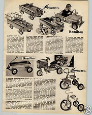 1961 PAPER AD Murray Toy Pedal Car Lark Auto Trac Tractor Air Force Jeep