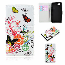 High Quality PU Leather Wallet Gel Cover Case For Sony Xperia Z1 Compact Z1 mini