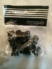 12 begs with New 12 Small Plastic Black Hair Clips Claws Clamps HOT