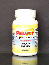 CoQ-10 q10 ubiquinone 600mg ~ 30 capsules, co-enzyme, cardio aid. Made in USA.