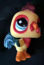 ❤️Littlest Pet Shop LPS #2358 Yellow Red Sparkle Glitter Rooster MAIL IN EDITION