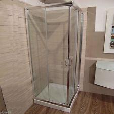 Box doccia cabina scorrevole in cristallo 6 mm vetro trasparente piatto 75x90