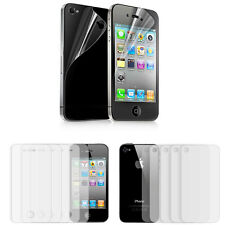 5 Sets Clear Front and Back Protective Film Screen Protector For iPhone 4 4s Hot