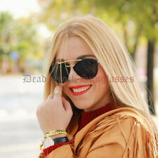 Half Rim CUT OFF Sunglasses BLACK womens girl designer celebrity hot sexy trendy