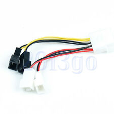 PC Fan 4-Pin Convert to 2pin/3pin (2x12V) (2x5V) Y-Splitter Cable Connector YG