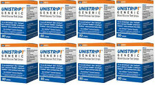 UniStrip 400 Test Strips for use with OneTouch Ultra II,Mini,Smart Meter- 9/18