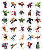 Super Hero Squad edible cake toppers x 30
