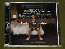 LOST IN TRANSLATION OST CD KEVIN SHIELDS MY BLOODY VALENTINE *RARE USA PRESS New
