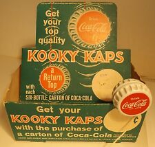 COCA COLA Store Display Box for KOOKY KAPS a Return Top ( YoYo ) w one YoYo Cap