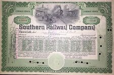Southern Railway Company now Norfolk Southern old railroad stock certificate