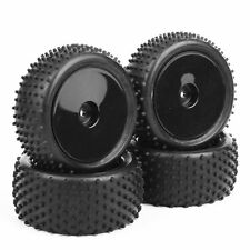 4PCS  Rubber Nail Front & Rear Tires+Wheel Rim For RC 1:10 Off-Road Buggy