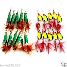 Lot 20pcs trout metal fishing lure spinner spoon bait set fish tackle topwater