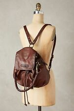 NWT Frye Jenny Convertible Leather Backpack Leather in Dark Brown w/plum tone