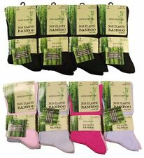 3 Pairs Of Ladies Bamboo Loose Top Socks, Super Soft Anti Bacterial Socks