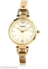 Fossil Women's Georgia Gold-Tone Stainless Steel Watch ES3084