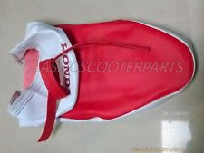 Honda long seat saddle RED / WHITE COVER C50 C100 C102 Stain PLEASE READ!!!!