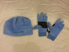 Columbia Youth Light Blue thermal coil fleece Beanie & gloves set small NWOT