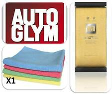 Autoglym Car Hi-Tech Microfibre Drying Towel & Microfibre Clean Valeting Cloth