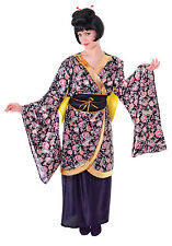 Ladies Geisha Girl Chinese Fancy Dress Costume Womens Oriental Outfit UK 10-14