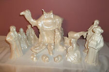 VTG.BYRON CERAMIC MOLDS CHRISTMAS NATIVITY SET OF 14PCS.MINT HTF RARE 1984