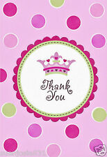 A New Little Princess Thank You Notes 8pcs Baby Shower Party Supplies