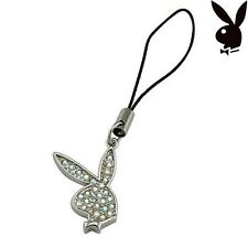 Playboy Cell Phone Charm Bunny Swarovski AB Crystals Mobile Gift Box HTF RARE
