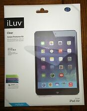 iLuv Clear Film for iPad Air AP5CLEF 2 Protective Screen Screens Cover Kit