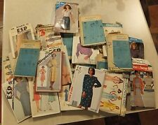 VTG LOT 30+ SEWING PATTERNS FOR WOMEN 1970'S SIMPLICITY McCALLS BUTTERICK LOT 1