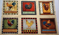 PATCHWORK NO 07 - 6 SQUARES WITH A COUNTRY CHOOK THEME - 4.5 INCH SQUARE
