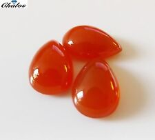 1x Karneol - Orangerot Tropfen, pear Cabochon IF 9,5x14,5mm (2085)