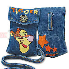 Disney Embroidered TIGGER Universal Jean Pouch Case for iPhone 5s 5 4 MP3 iPod
