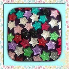 ��Flatback  Resin x 20 Twinkling Rhinestone Cabochons Stars For Crafts