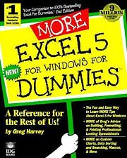 More Excel 5 for Windows for Dummies, Greg Harvey, Very Good Book