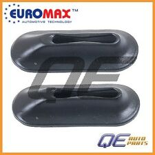 2 Front Lower VW Beetle Karmann Ghia Bumper Bracket Grommets Euromax 111707197A