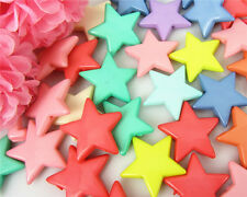 60pcs star bead Pendant plastic charms pendants for Craft Necklaces baby