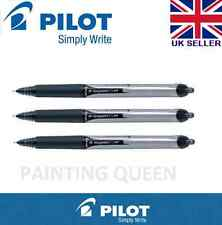 3 x Pilot Hi-Tecpoint V5 RT Retractable Liquid Ink Rollerball  Black