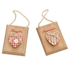 French Shabby Chic Gingham Red Wooden Memopeg - Set of Two Designs - Xmas Gift