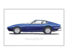Maserati Ghibli SS -  Limited Edition Classic Car Print Poster by Steve Dunn