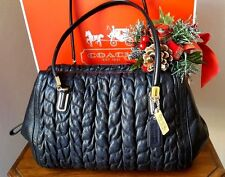Coach Madison Gathered Chevron Leather Madeline Satchel 25985 MSP  $498.00