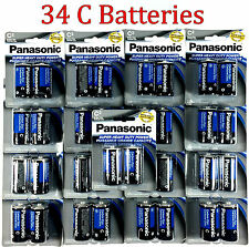 34 Wholesale C Panasonic Battery Batteries Super heavy duty Bulk Lot